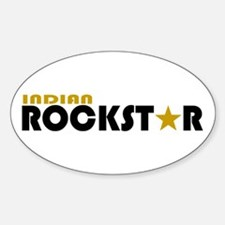 Indian Rockstar 2 Oval Decal