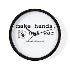 """""""make hands, not war"""" Wall Clock"""