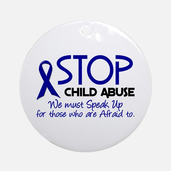 Stop Child Abuse 2 Ornament (Round)