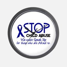 Stop Child Abuse 2 Wall Clock