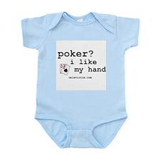 """poker? i like my hand"" Infant Creeper"