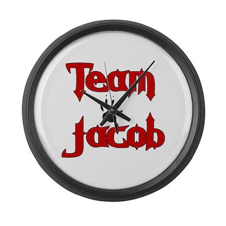 Team Jacob Large Wall Clock