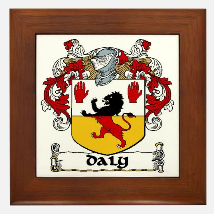 Daly Coat of Arms Framed Tile