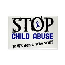 Stop Child Abuse 3 Rectangle Magnet