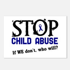Stop Child Abuse 3 Postcards (Package of 8)
