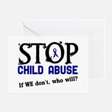 Stop Child Abuse 3 Greeting Card