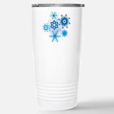 Christmas Snowflake Stainless Steel Travel Mug