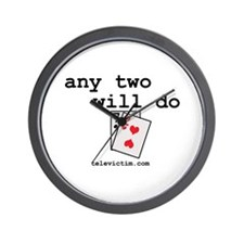 """any two will do"" Wall Clock"