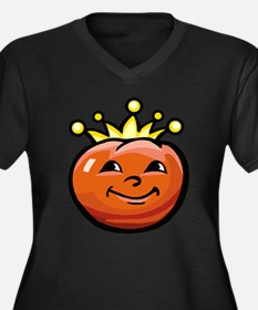 Tomato King Women's Plus Size V-Neck Dark T-Shirt