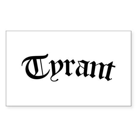 Tyrant (pink) Rectangle Sticker