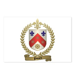 PINARD Family Crest Postcards (Package of 8)