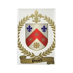 PINARD Family Crest Rectangle Magnet (100 pack)