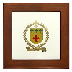 PLANTE Family Crest Framed Tile