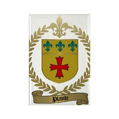 PLANTE Family Crest Rectangle Magnet (100 pack)