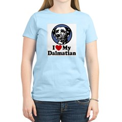 I Love My Dalmatian Women's Pink T-Shirt