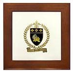 POIRIER Family Crest Framed Tile