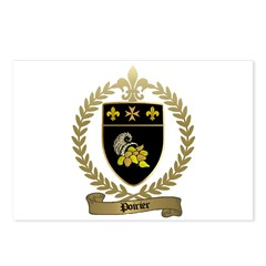POIRIER Family Crest Postcards (Package of 8)