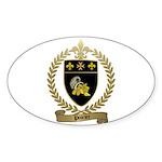 POIRIER Family Crest Oval Sticker