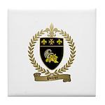 POIRIER Family Crest Tile Coaster