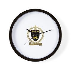 POIRIER Family Crest Wall Clock