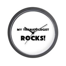 MY Thanatologist ROCKS! Wall Clock