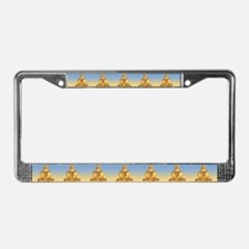 Buddha Graphic License Plate Frame