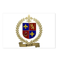 POITRAS Family Crest Postcards (Package of 8)