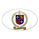 POITRAS Family Crest Oval Sticker