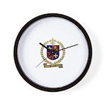 POITRAS Family Crest Wall Clock