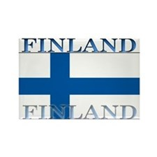 Finland Finish Flag Rectangle Magnet