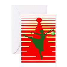 Christmas Ballerina Greeting Card