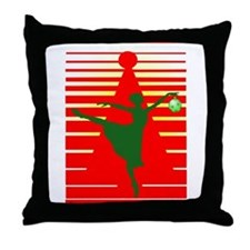 Christmas Ballerina Throw Pillow