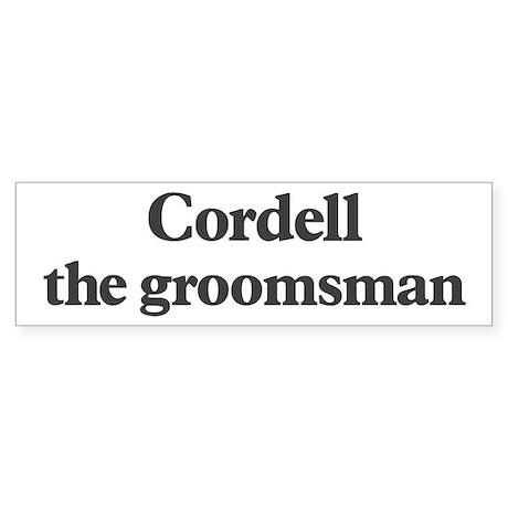 Cordell the groomsman Bumper Sticker