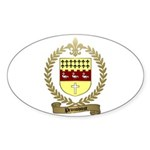 PRONOVOST Family Crest Oval Sticker