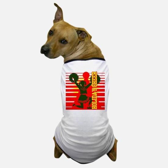 Christmas Cheerleader Holiday Dog T-Shirt
