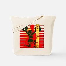 Christmas Cheerleader Holiday Tote Bag