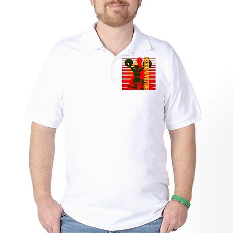Christmas Cheerleader Holiday Golf Shirt