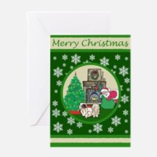 Santa & A Pekingese Greeting Card