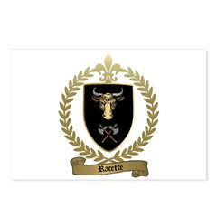 RACETTE Family Crest Postcards (Package of 8)