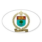 RACINE Family Crest Oval Sticker