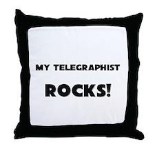 MY Telegraphist ROCKS! Throw Pillow