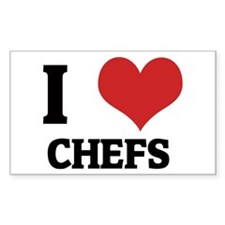 I Love Chefs Rectangle Decal