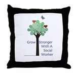Social Workers Strong Throw Pillow