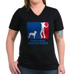 Ambullneo Mastiff Women's V-Neck Dark T-Shirt