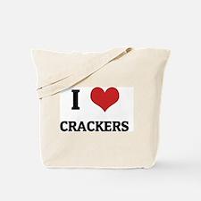 I Love Crackers Tote Bag
