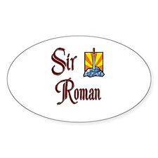 Sir Roman Oval Decal