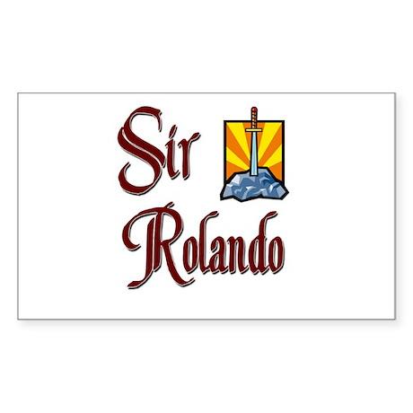 Sir Rolando Rectangle Sticker