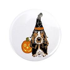 """Halloween Basset Hound 3.5"""" Button (100 pack)"""