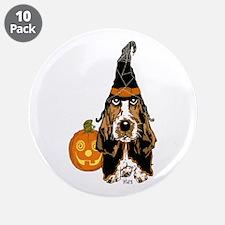 """Halloween Basset Hound 3.5"""" Button (10 pack)"""