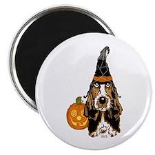 """Halloween Basset Hound 2.25"""" Magnet (10 pack)"""